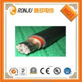 Yjv 0.6/1kv XLPE desnudo Bandao sólido de aislamiento del cable de cobre trenzado de núcleo sólido 3X240+2x120 Cable de alimentación sqmm