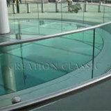 vidrio Tempered de cristal endurecido doblado plano del estante del vidrio Tempered de 3mm-19m m