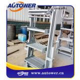 産業Petrochemcialのための安全ケージが付いている折る階段