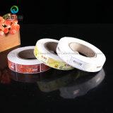 Kundenspezifischer Entwerfer-Nahrungsmittelaufkleber-wasserdichtes anhaftendes Rollennahrungsmittelaufkleber-Drucken