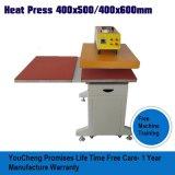 Estación doble neumático en la diapositiva de la máquina de transferencia de calor