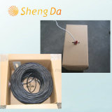 Коаксиальный кабель желтой куртки PVC Стандартн-Экрана RG6 CATV