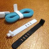 Neue Produkt-gedruckte Firmenzeichen-Torsion-Verschluss-Silikon-Gummi-Kabelbinder