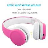 Getelegrafeerd Volume die de Hoofdtelefoons van Jonge geitjes Vouwbaar over de Hoofdtelefoons van het Oor met Muziek beperken die Functie en Afneembare Kabel voor (de Roze) Meisjes van de Jongens van Kinderen delen