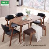 Festes Holz-Esszimmer-Möbel-gesetzter starker Tisch mit PU, die Stuhl speist