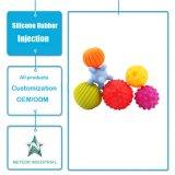 中国の工場によってカスタマイズされる自然で無毒なシリコーンゴムのおもちゃの赤ん坊Teether