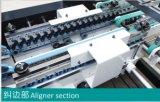 기계 (GK-1200PC)를 접히고 접착제로 붙이는 자동적인 케이크 상자 물결 모양 상자