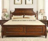 Solid Wooden Bed Modern Doubles Beds (M-X2308)