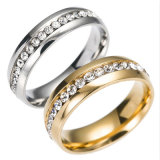 CZ joyas de diamantes nuevo regalo de boda Anillo de Oro