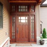 Portas de madeira contínuas com pintura do folheado para a casa interior