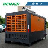o caminhão 7bar montou o compressor de ar do motor Diesel de 185 Cfm