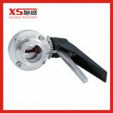 Válvula de borboleta sanitária do aço inoxidável Ss304 Tc Triclamp