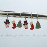 Noël Polyresin douche crochets d'amorçage de la neige