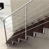 手すりのステンレス鋼のステアケースのための固体棒の手すりケーブルの柵
