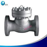 API 6D de aço fundido aparafusado a tampa do capô do disco de aço da válvula de retenção de abertura e fechamento do Pino da dobradiça
