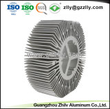 Dispositivo di raffreddamento di alluminio di Rotondo-Figura dell'OEM per il blocco per grafici di illuminazione