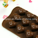 100% de silicona de grado alimentario Heart-Shaped Molde Chocolate