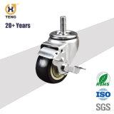 Industrielle Fußrollen-Oberseite-Platten-Nylonfußrollen-Rad