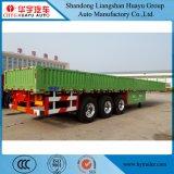 2 de Zijgevel van Funcations 3axles/ZijRaad/de Zij Semi Aanhangwagen van de Daling voor Container en Lading