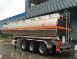 3 de BPW ejes remolque del depósito de aluminio de 45kl semi remolque cisterna de combustible