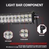 Barre duelle d'éclairage LED incurvée par 72W des rangées 3D 14inch