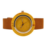 Nuevo reloj material del mármol de la cara del oro del reloj con servicio del OEM