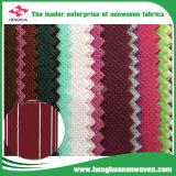 Tela no tejida 100% de la materia textil de Spunbond del polipropileno usada para hacer el guardarropa del paño