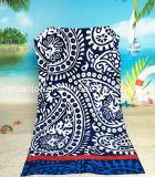 高品質の100%年の綿80X160cmの反応印刷されたビーチタオル