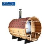 Sauna atrativa do tambor das cabines da sauna do melhor vendedor com fogão da sauna