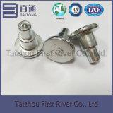 ribattino d'acciaio semi tubolare bianco capo della spalla di colore dello zinco E1 di 12X24.8mm