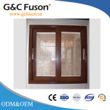 Aluminium en verre Tempered de Brown Windows coulissant avec l'Architrave