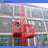 Élévateur de matériau de construction Ss100/100 utilisé dans la construction avec Ce/ISO