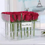 16 красных роз дешевые цены водонепроницаемый акриловый роз букет в салоне