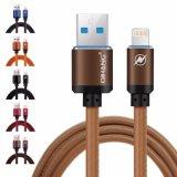 C04 2.4A кожаные металлическое быстрый мобильный телефонный кабель USB-кабель