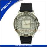 Het unisex- Zwitserse Horloge van het Roestvrij staal met de Wijzerplaat van de Zwabber