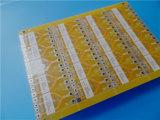 黄色いSoldermask PCBのプリント基板EMSの製造業中国