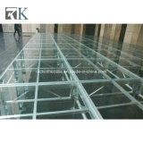 Pattes en aluminium d'étape en verre d'événement pour l'exposition de performance