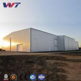 Frankreich-breite Überspannungs-vorfabriziertes strukturelles Werkstatt-Stahlgebäude