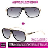 7057 óculos de sol da personalidade da tendência da forma de Euro--América