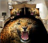 Disegni stabiliti stampati animali poco costosi dell'assestamento del cotone vari (tigre, leone)