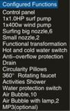 1400mm Conner Jacuzzi con LED de cascada y cojín de masaje (EN-6011-1)