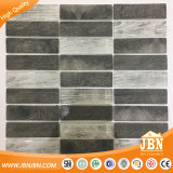 Baksteen van uitstekende kwaliteit van het Glas van het Mozaïek van Inkjet van de Kleur van de Tegel van het Mozaïek de Grijze Houten (V639045)