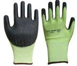 Widerstand-beständige PU beschichtete Sicherheits-Handschuh-Stufe 5 schneiden