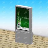 Rectángulo ligero al aire libre de la publicidad Mupi del nuevo diseño 2017 con la poder de basura tres