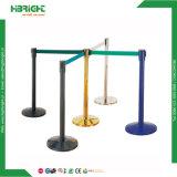 Alberino diritto della coda della barriera del pavimento del supermercato dell'acciaio inossidabile con la base accatastabile