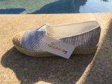 Веревочки Outsole обуви ботинок женщин холстины пятка резиновый плоская