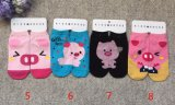 Mit hoher Schreibdichtebaumwolle der Frauen trifft koreanische Karikatur-Socken hart