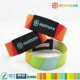Wristbands clásicos de la tela de estiramiento de la solución MIFARE EV1 1K del acontecimiento RFID