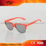 Óculos de sol polarizados UV400 à moda populares da forma do círculo do vintage para mulheres dos homens