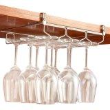 Bajo barra ajustable del organizador de la percha del vidrio de vino del acero inoxidable del sostenedor del estante de Steamware de la cabina